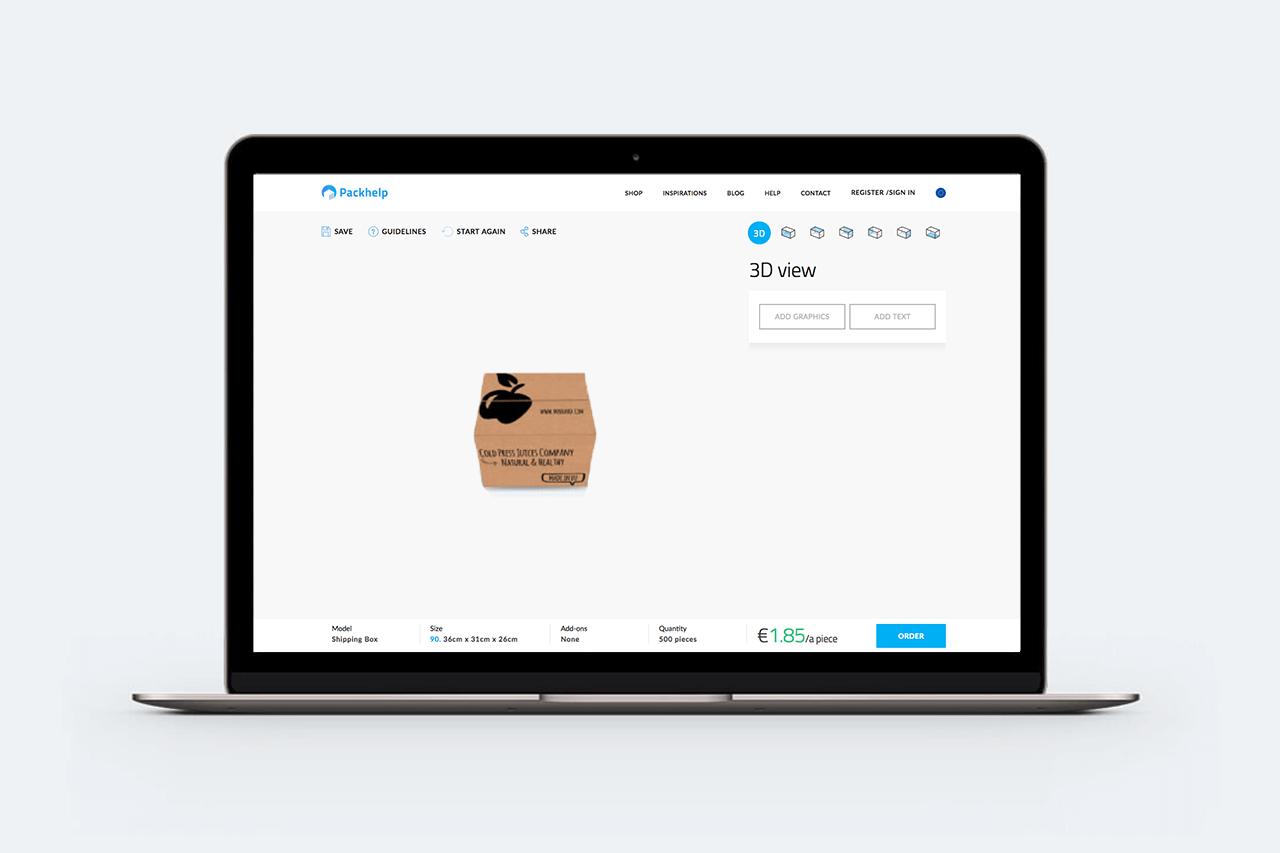 Diseño de caja para envíos