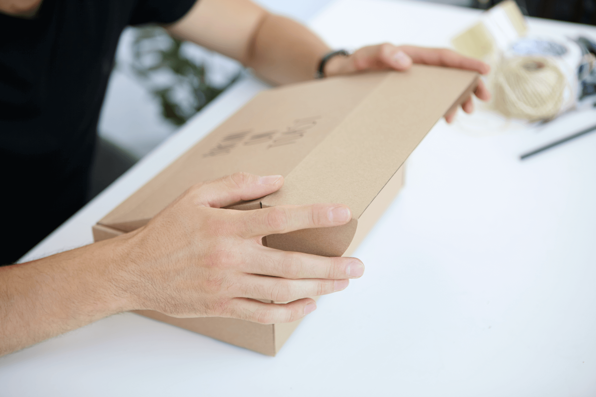 Paquetería de cartón natural