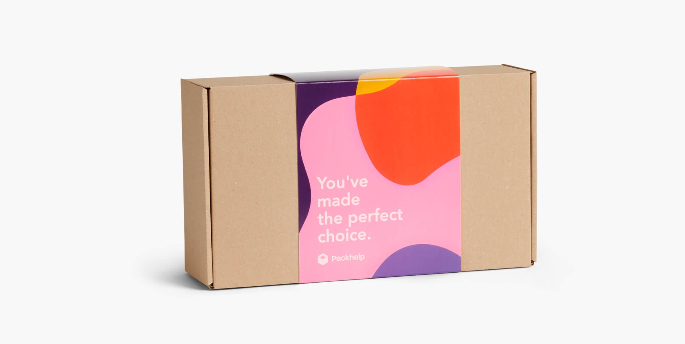d383edd075bd Cajas con faja de cartón - paqueteria personalizada para empresas - Packhelp