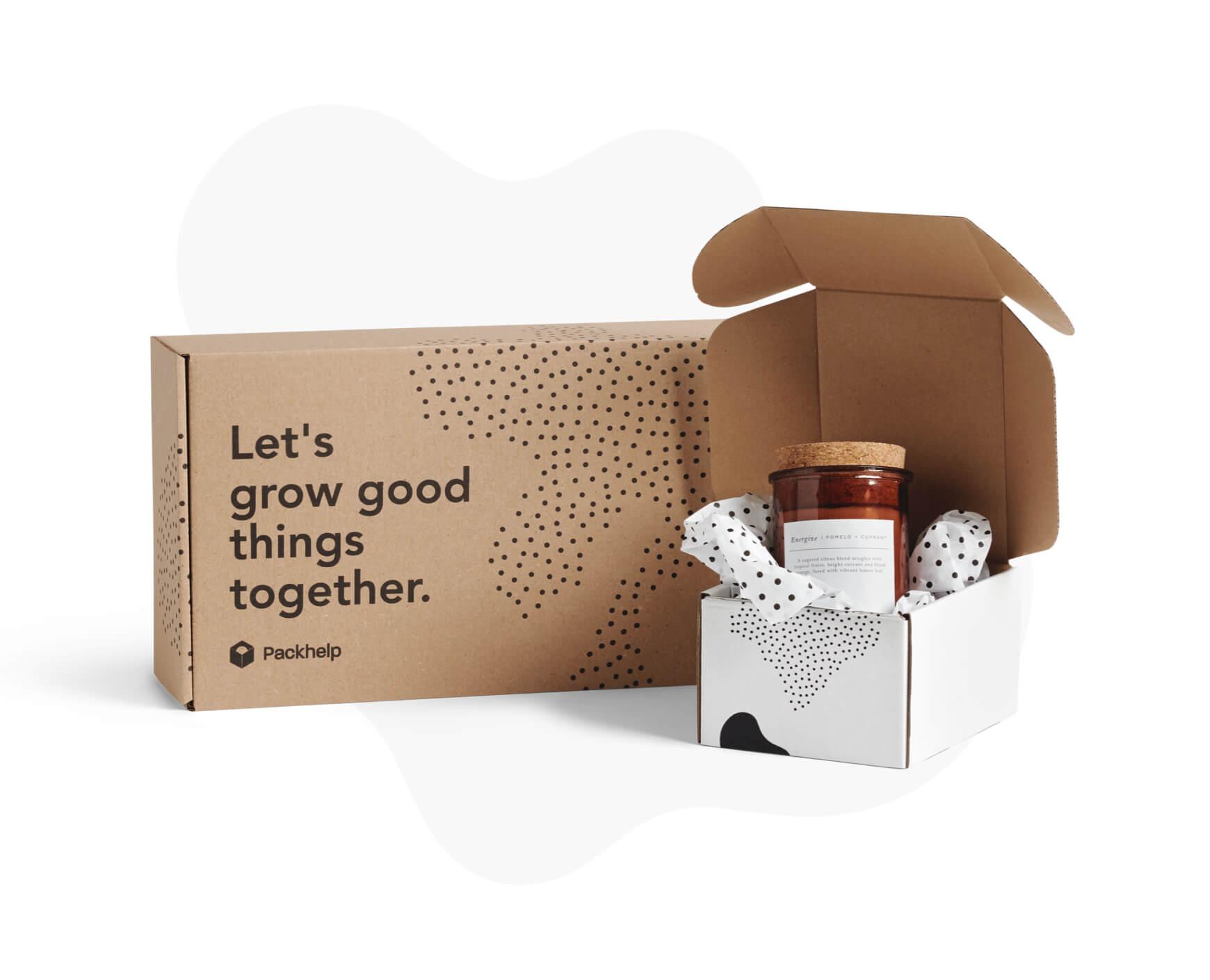 3d495960836e Caja postal Eco - paqueteria personalizada para empresas - Packhelp